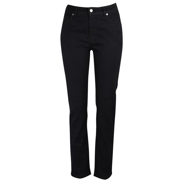 Vassalli Slim Leg Jean With Heavy Top Stitch - black denim