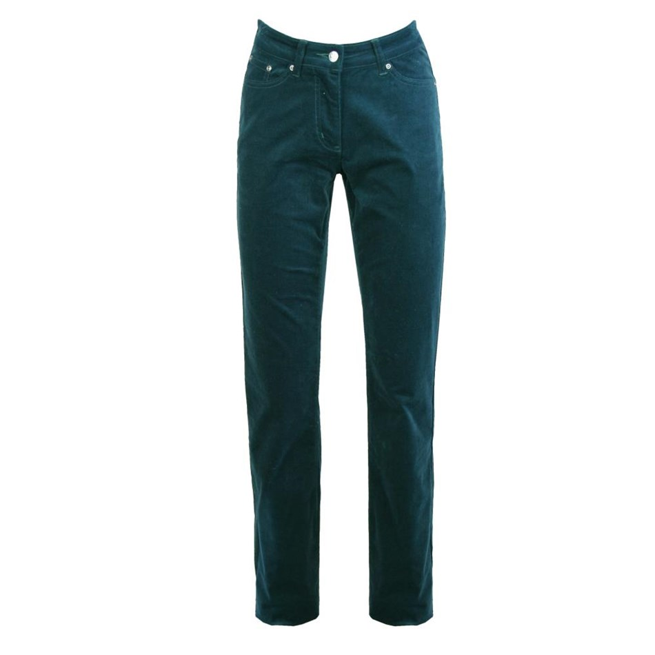 PJ Jeans Straight Leg Royal Cord 5 Pocket Jean - dark teal
