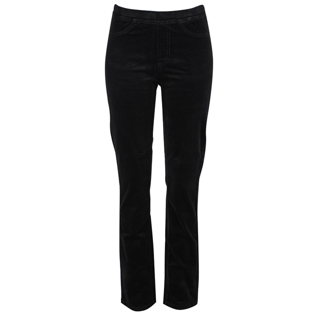 Vassalli Slim Leg Cord Pull On - black