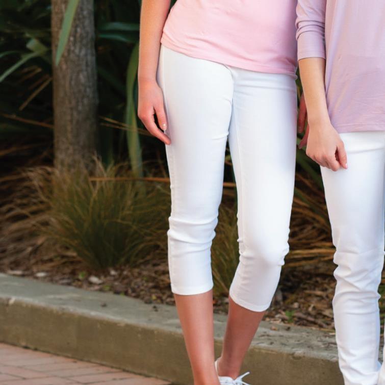 Vassalli Pull On 7/8 Lightweight Legging - white
