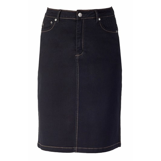 Vassalli Denim Skirt Contrast Stitch