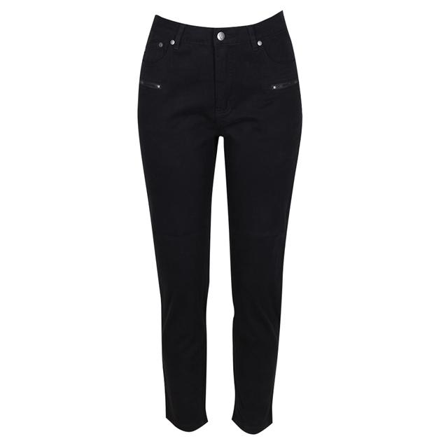 Vassalli Luxe Skinny Leg Ankle Grazer Pant - black