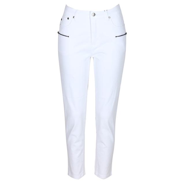 Vassalli Luxe Skinny Leg Ankle Grazer Pant - white