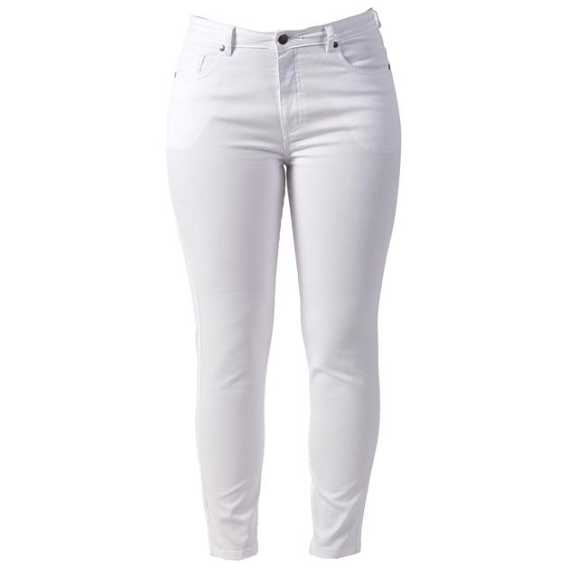 Vassalli Skinny Leg Ankle Grazer Jean - white
