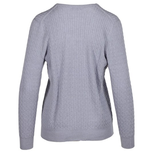 Royal Merino Long Sleeve Rib & Cable Crew Neck Jumper