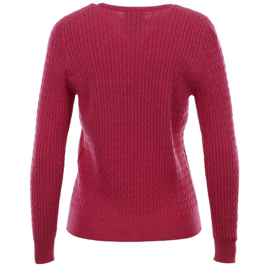 Royal Merino Long Sleeve Cable Crew Neck Jumper