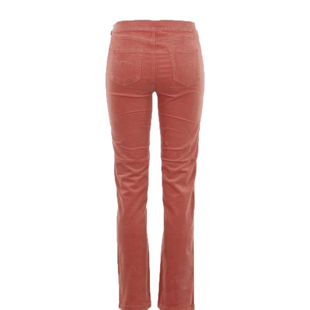 Vassalli Slim Leg Cord Pull On - rouge