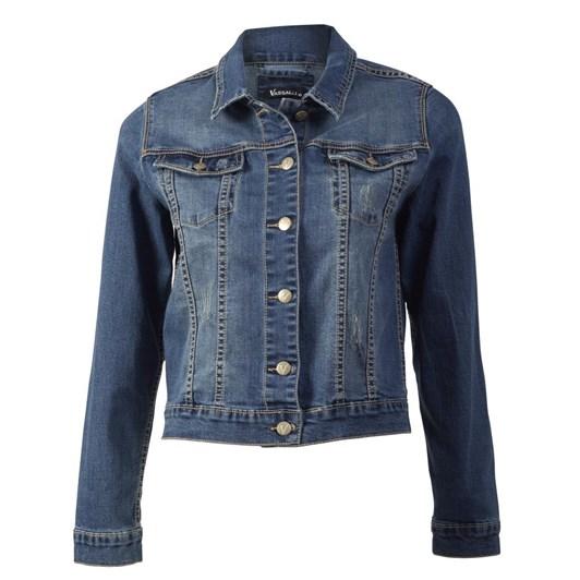 Vassalli Distressed Denim Jacket