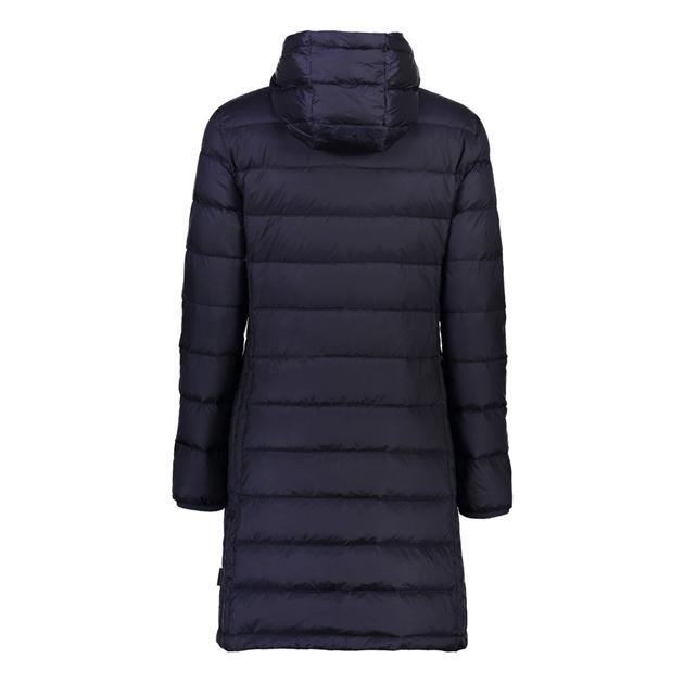 Moke Sarah Packable Down Coat Detachable Hood - ink blue