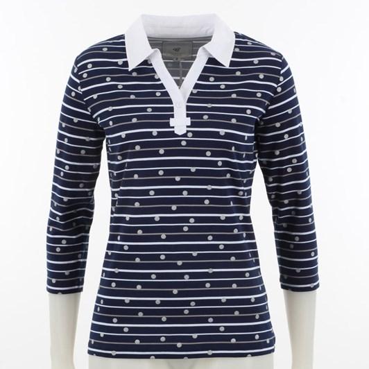 B Essentials Polo Spot Stripe