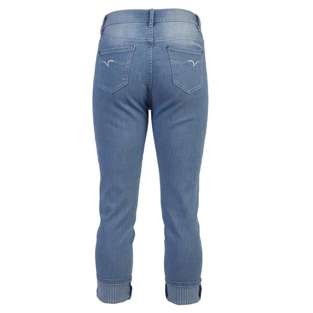 Vassalli Turn Up Cuff Jean Stripe Trim -