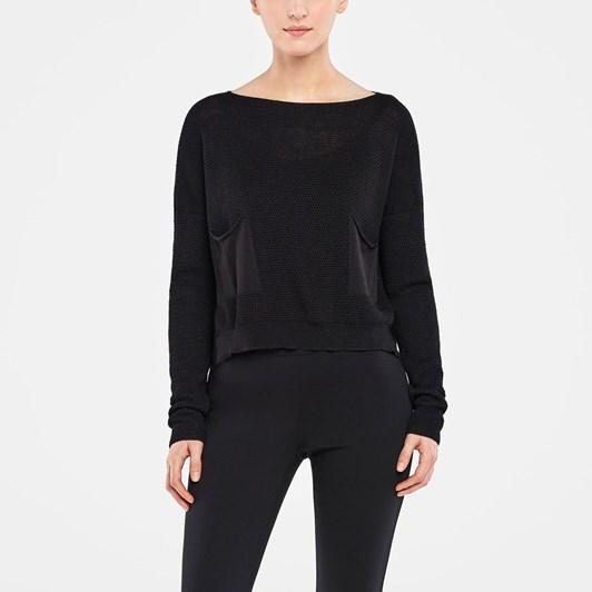Sarah Pacini Ls Pkt Sweater