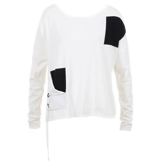 Sarah Pacini Sweater W Contrast Pockets