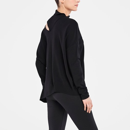 Sarah Pacini Sweater Rib Collar