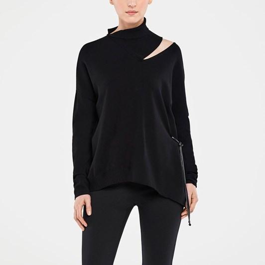 Sarah Pacini Sweater Rib Collar