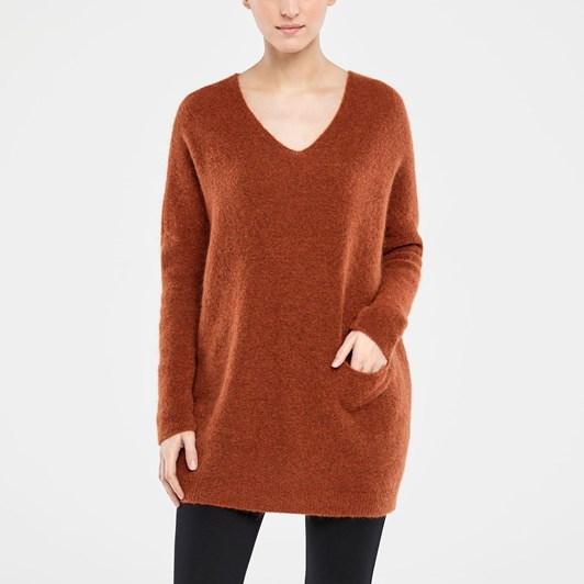 Sarah Pacini Long Sweater V Neck