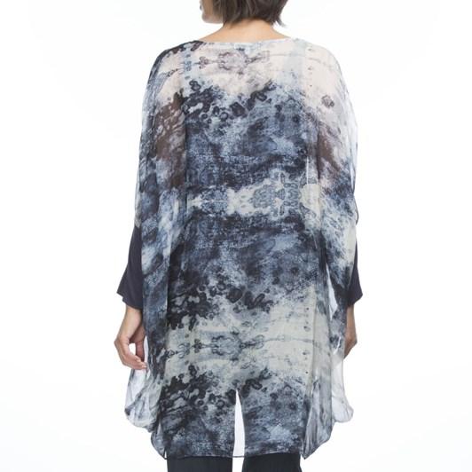 Hammock & Vine Waterfall Print Silk Georgette Top
