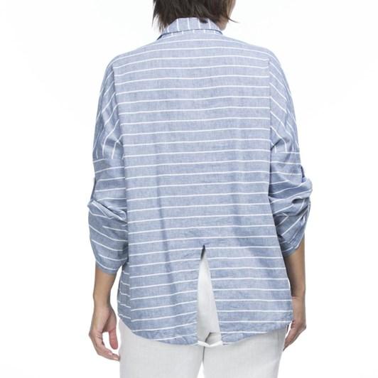 Hammock & Vine Horizontal Stripe Linen Jacket