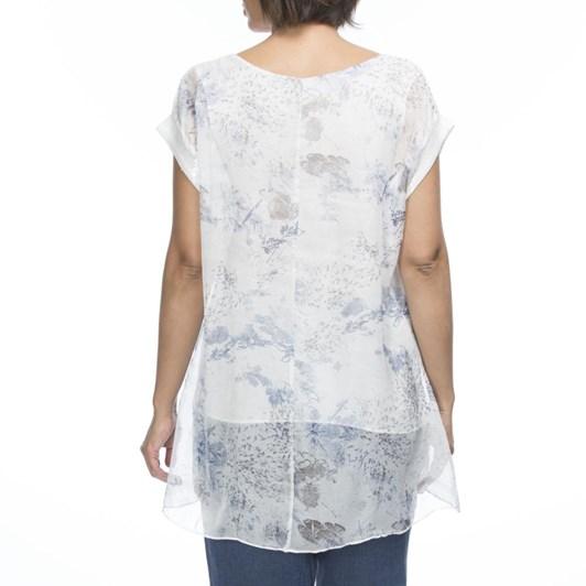 Hammock & Vine Splash Print Tunic Top