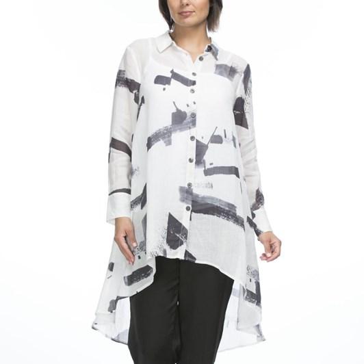 Hammock & Vine Hi Lo Print Shirt