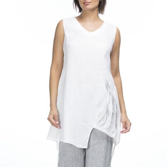 Hammock & Vine Foil Print Sleeveless Top