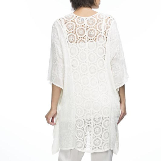 Hammock & Vine Lace Front Embroidered Kaftan Top