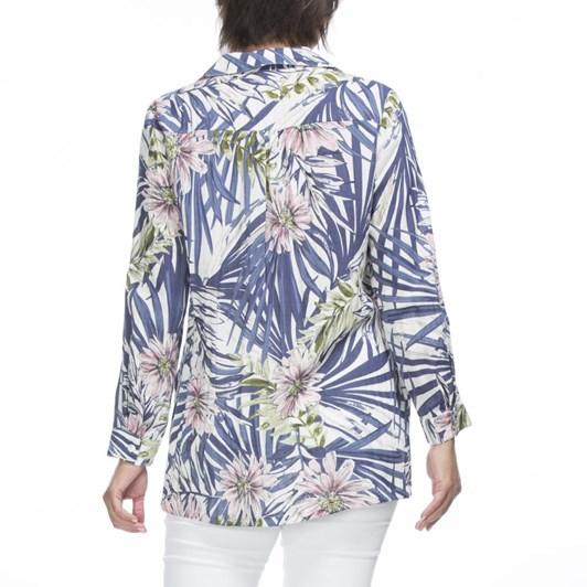 Gordon Smith Tropical Print Linen Shirt
