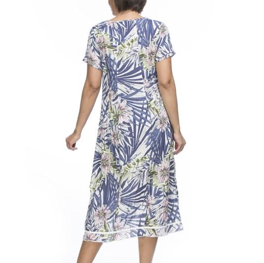 Gordon Smith Tropical Print Linen Dress