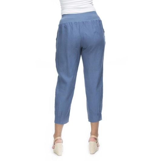 Gordon Smith Jersey Waist Linen Pant