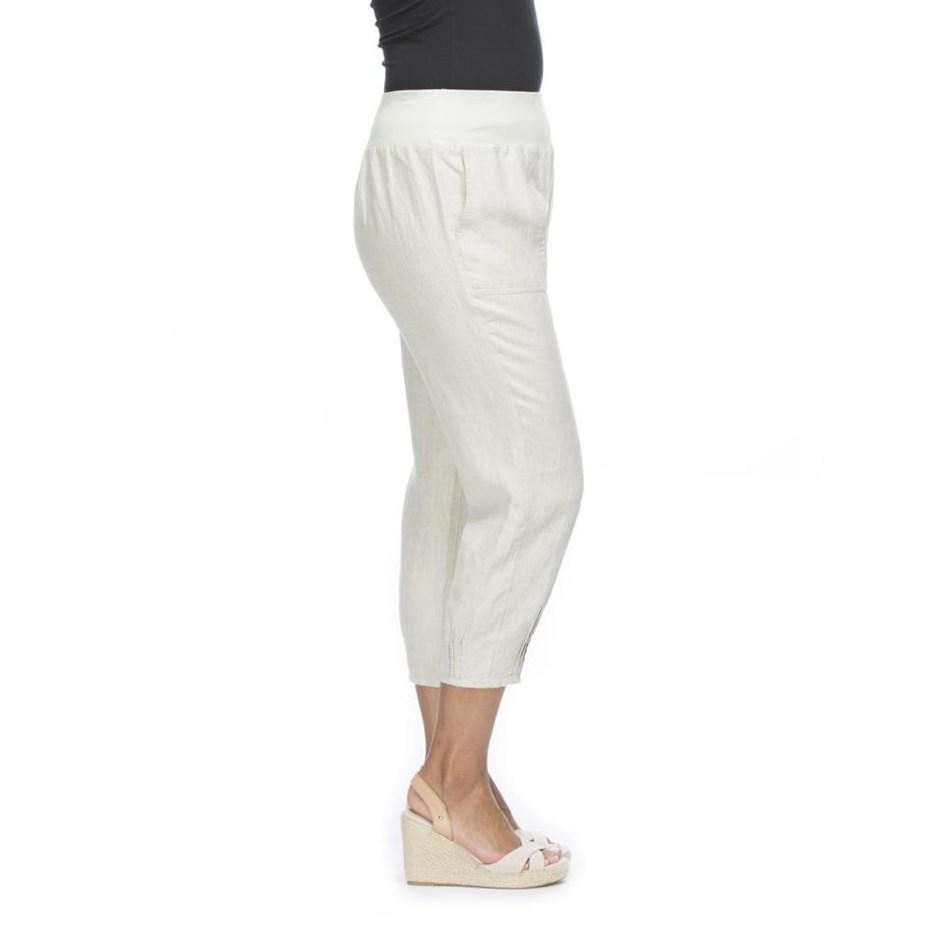 Gordon Smith Jersey Waist Linen Pant - natural
