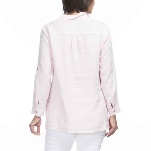 Gordon Smith Open Collar Linen Shirt