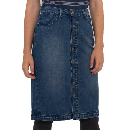 Brakeburn Long Denim Skirt