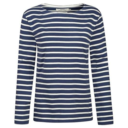 Seasalt Sailor Shirt Breton Night Ecru