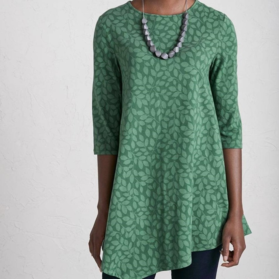 Seasalt Nansidwell Tunic Leaf Shadow Dark Forage - gree004011