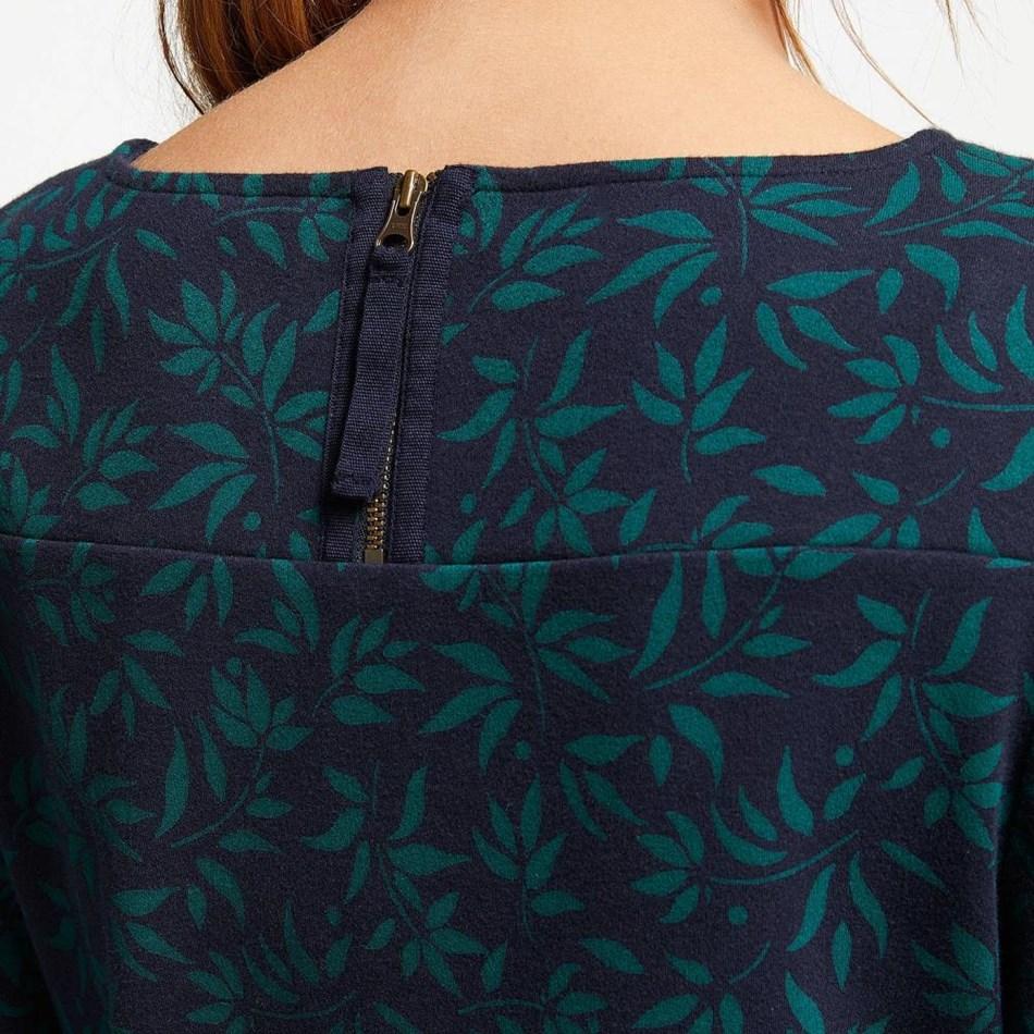 Seasalt Print Makers Dress Ink Pen Flowers Deep Sea - navy004571
