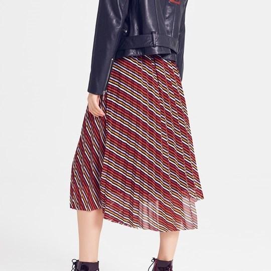 Gestuz Riba Skirt - 90468 red stribe