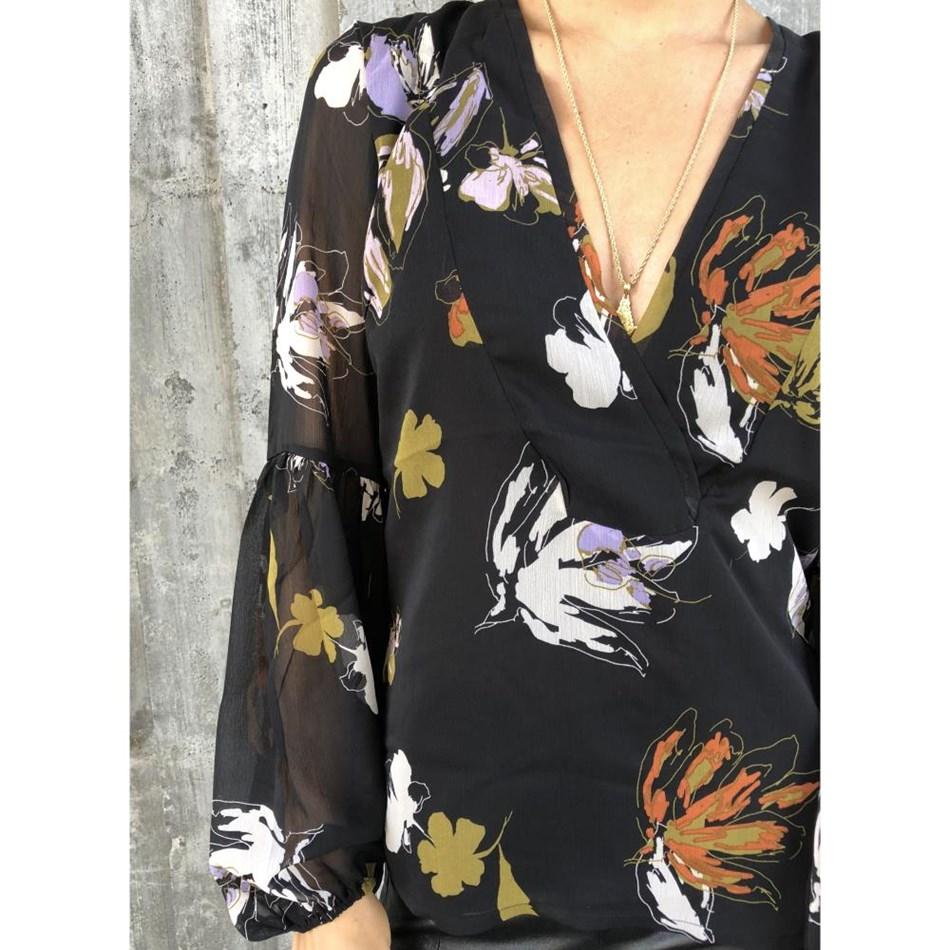 Gestuz Amali Blouse - 90361 blk flower