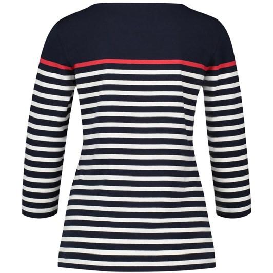 Gerry Weber Stripe 3/4 Sleeve T-Shirt