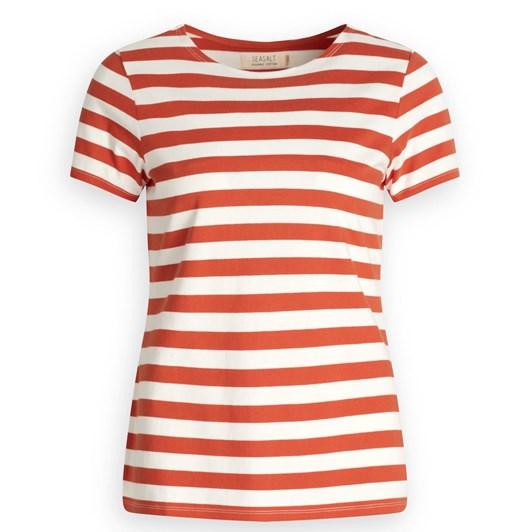 Seasalt Sailor T-Shirt Cornish Dark Satsuma Chalk