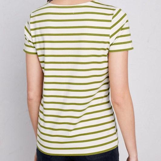 Seasalt Sailor T-Shirt Breton Ecru Citron