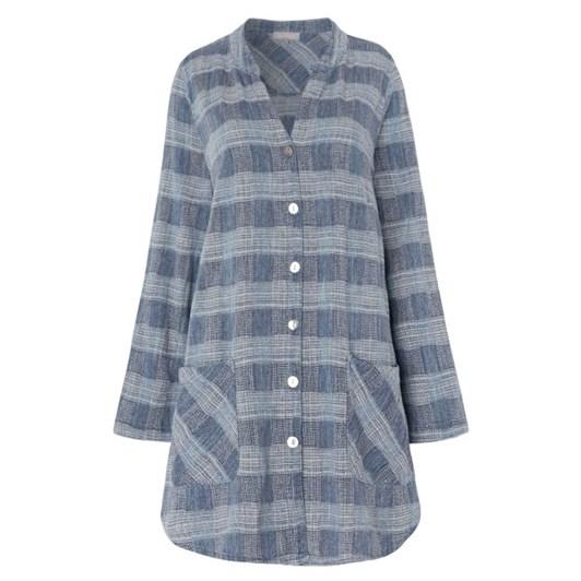 Sahara London Chambray Cotton Check Shirt
