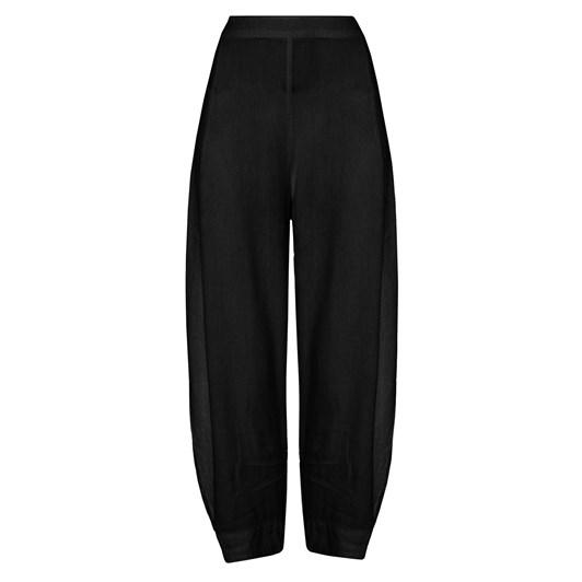 Sahara London Textured Linen Cropped Trouser