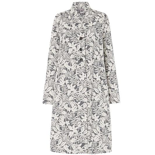 Sahara London Palm Print Jacquard Coat