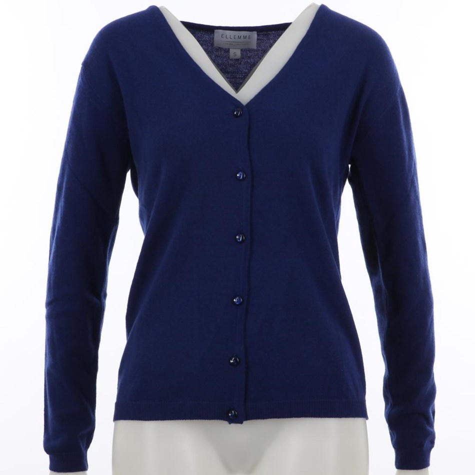Ellemme Cardigan Cashmere Blend - bright blue