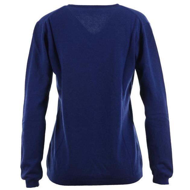 Ellemme V Neck Jersey Cashmere Blend - bright blue