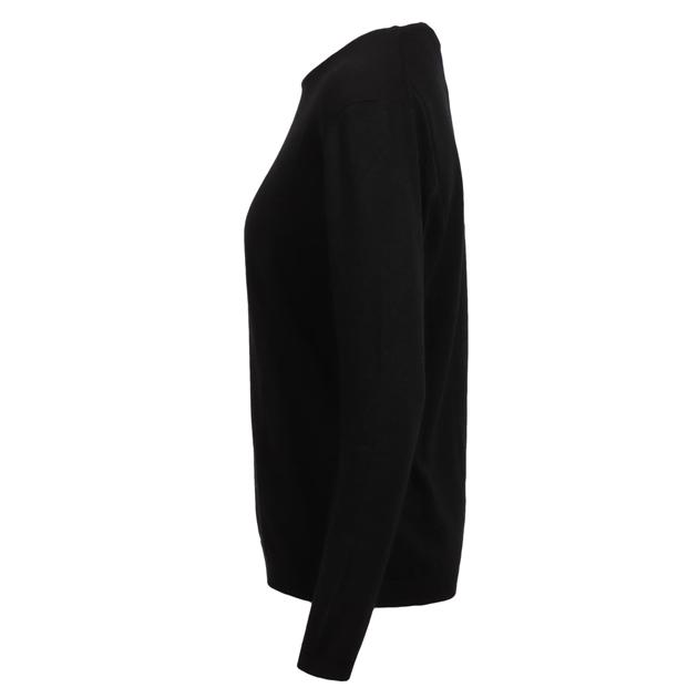 Ellemme Crew Neck Jersey Cashmere Blend - black
