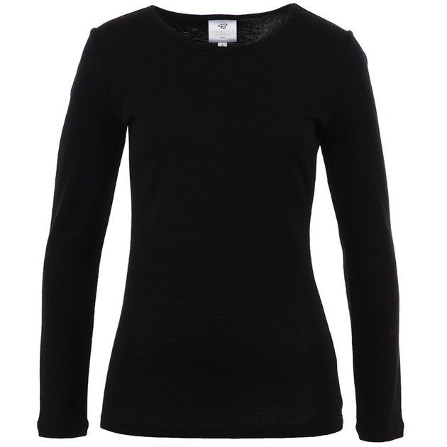 B Merino Crew Neck - black