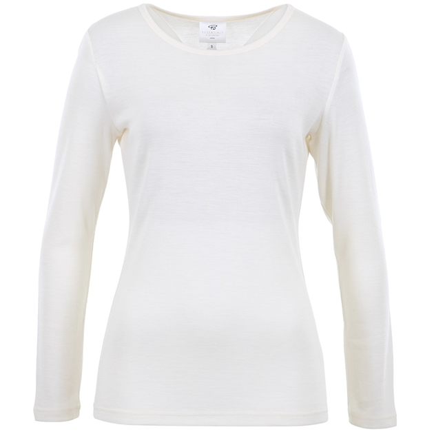 B Merino Crew Neck - winter white