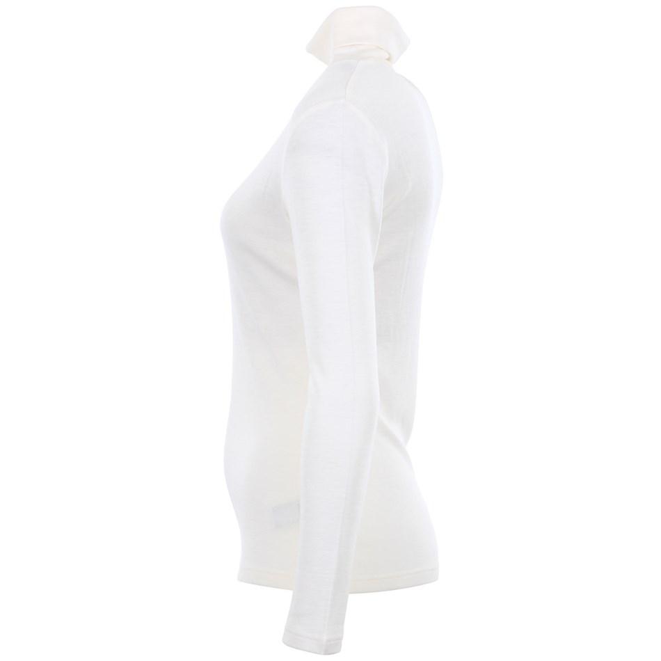 B Merino Roll Neck - winter white
