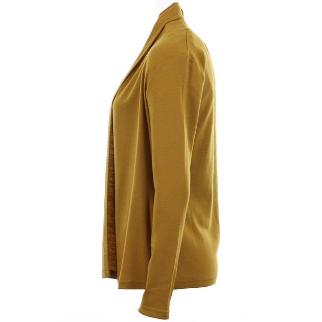 B Merino Drape Front Cardigan with Pockets - pistachio